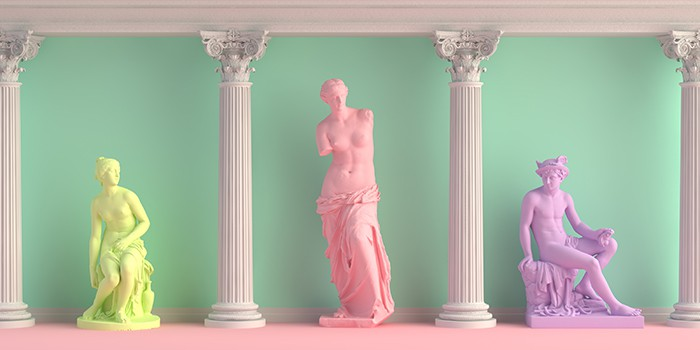 Pink Candle Meaning and Magic - Venus statue