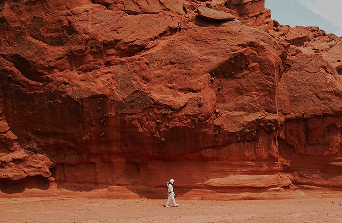 Red Candle Meaning and Magic - Astronaut on Mars