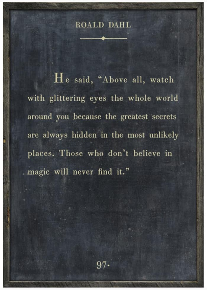 Believe in Magic - Roald Dahl