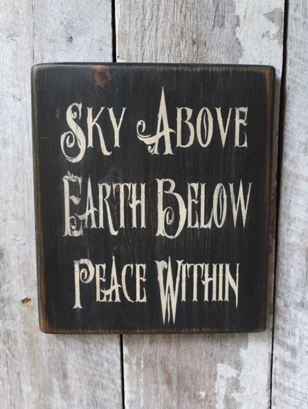 Sky Above Earth Below Peace Within
