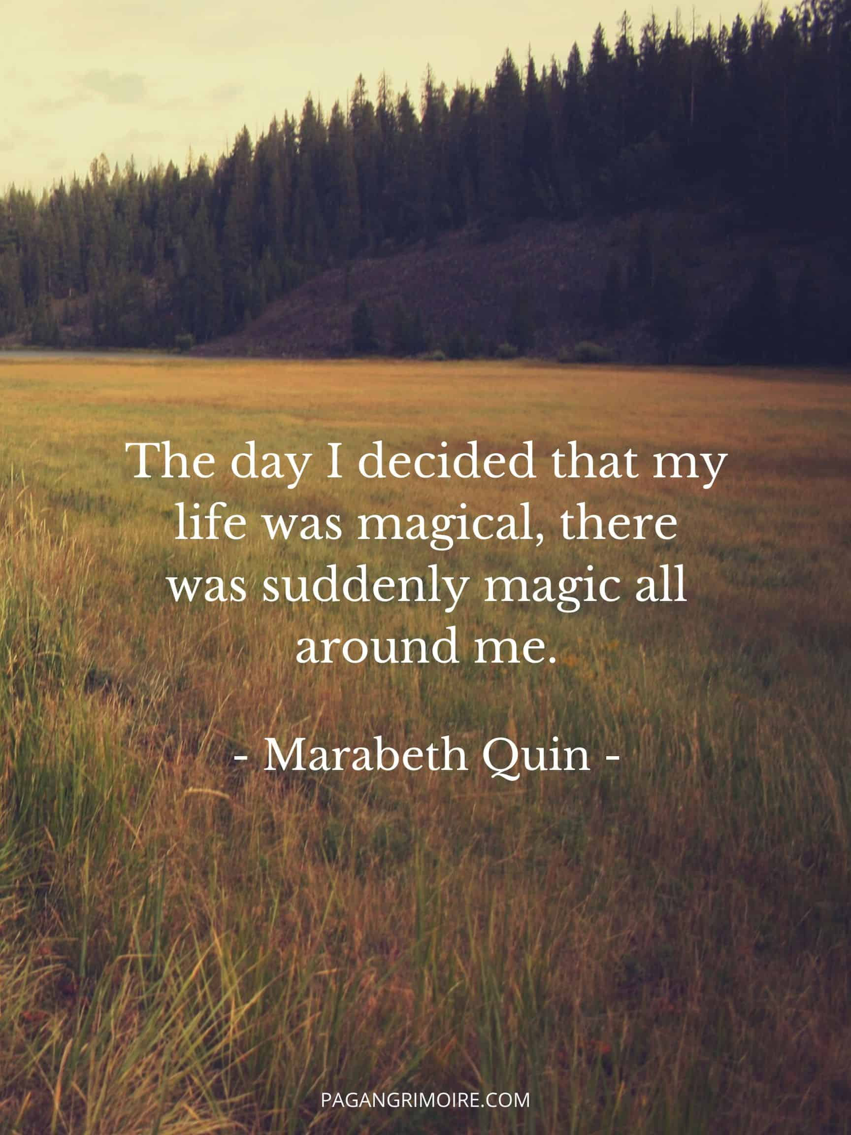 Witch Quotes - Day I Decided My Life Was Magical