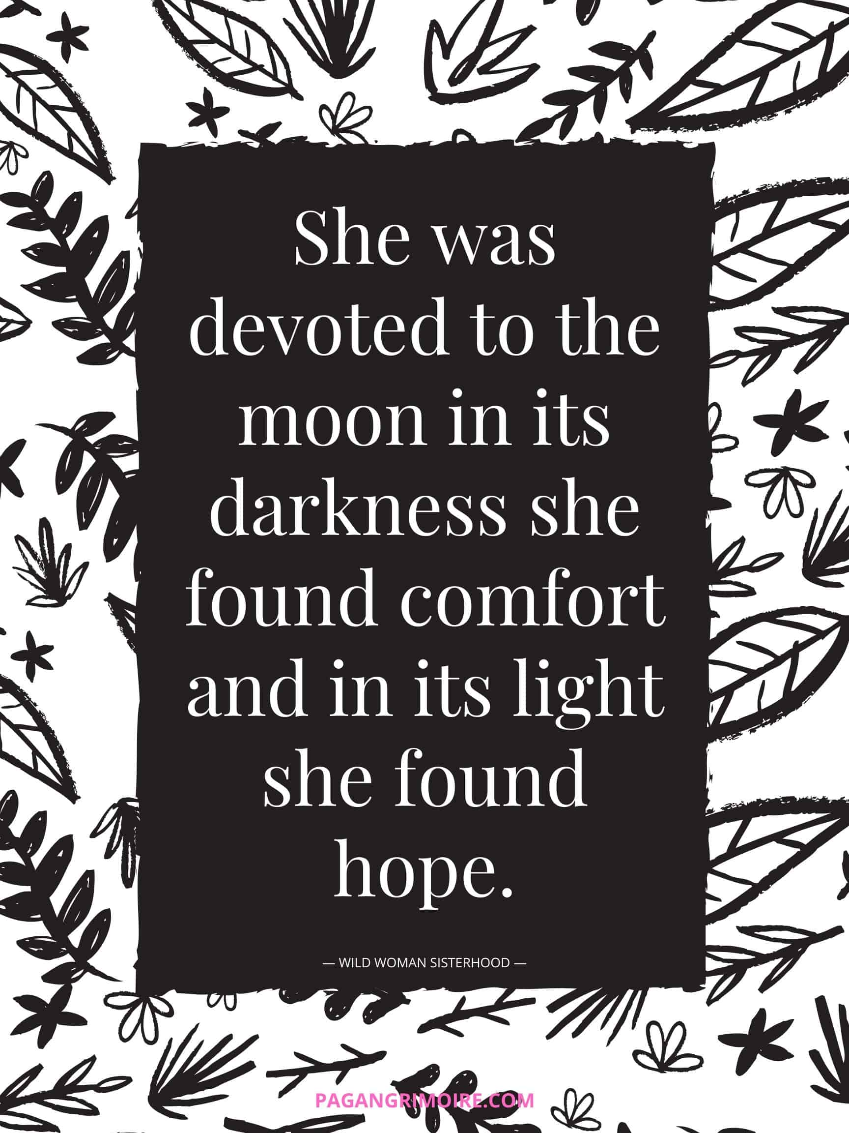 Witch Quotes - Devoted to the Moon