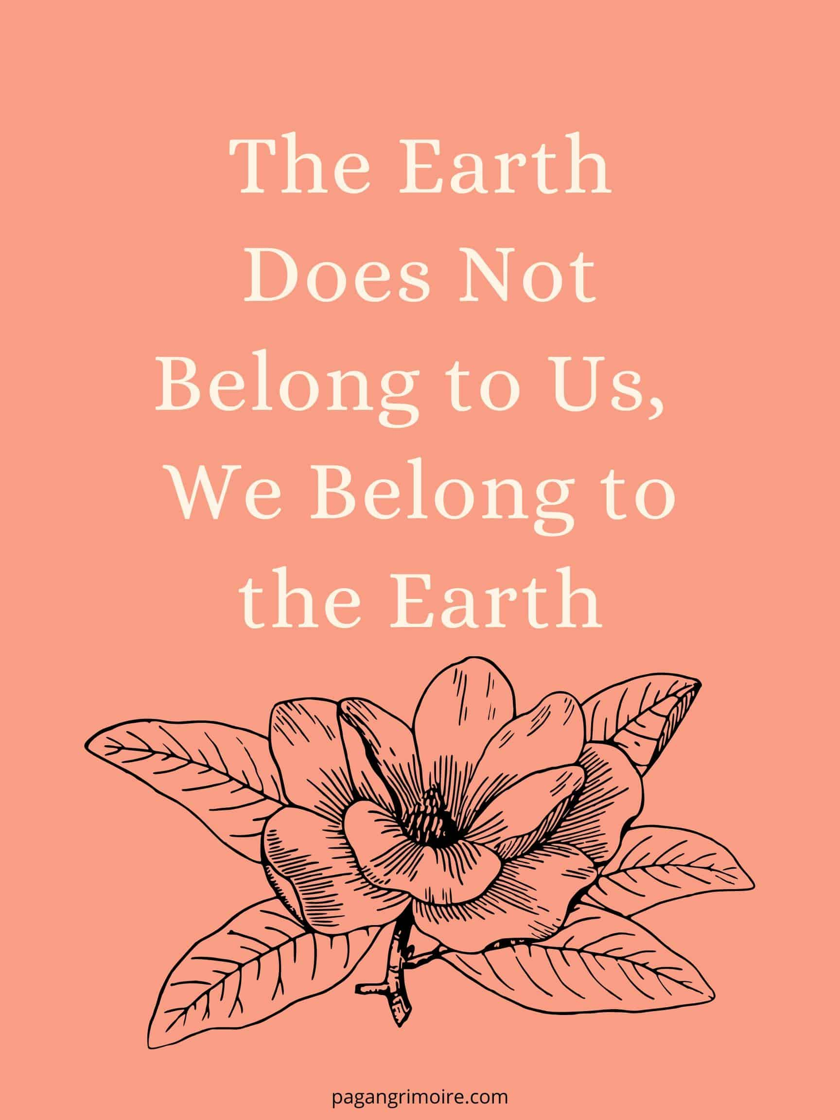 Witch Quotes - The Earth Does Not Belong To Us(1)
