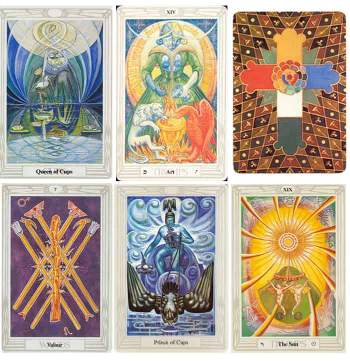Beautiful Tarot Decks - Book of Thoth