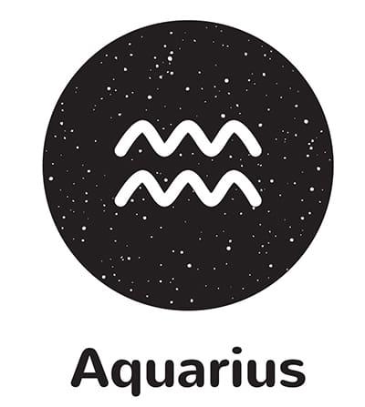Aquarius Symbol - water ripples