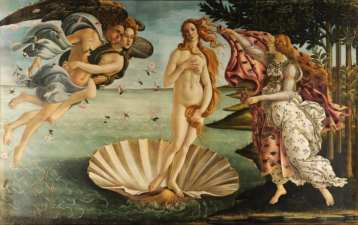 Green Candle Meaning - The Birth of Venus by Botticelli