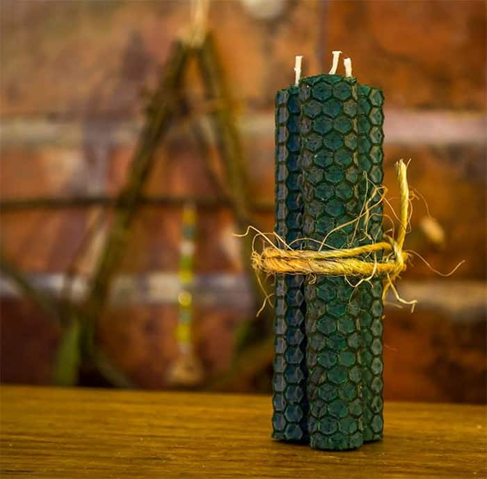 Green Candle Meaning - Beeswax