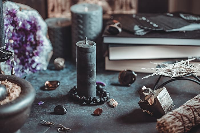 Black Candle Meaning - Altar