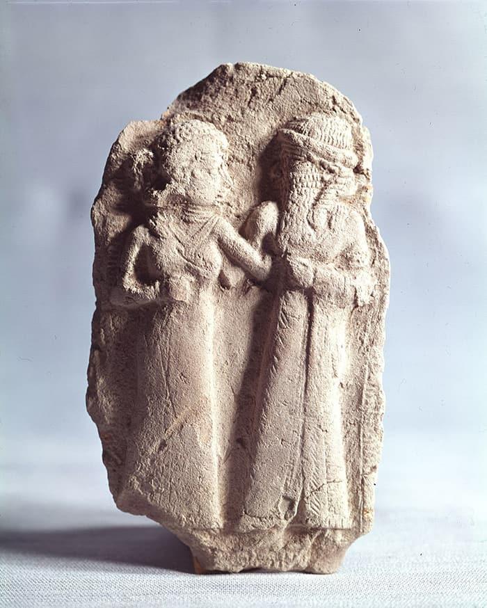 Aries Symbol - Sumerian Sculpture of Inanna and Dumuzi