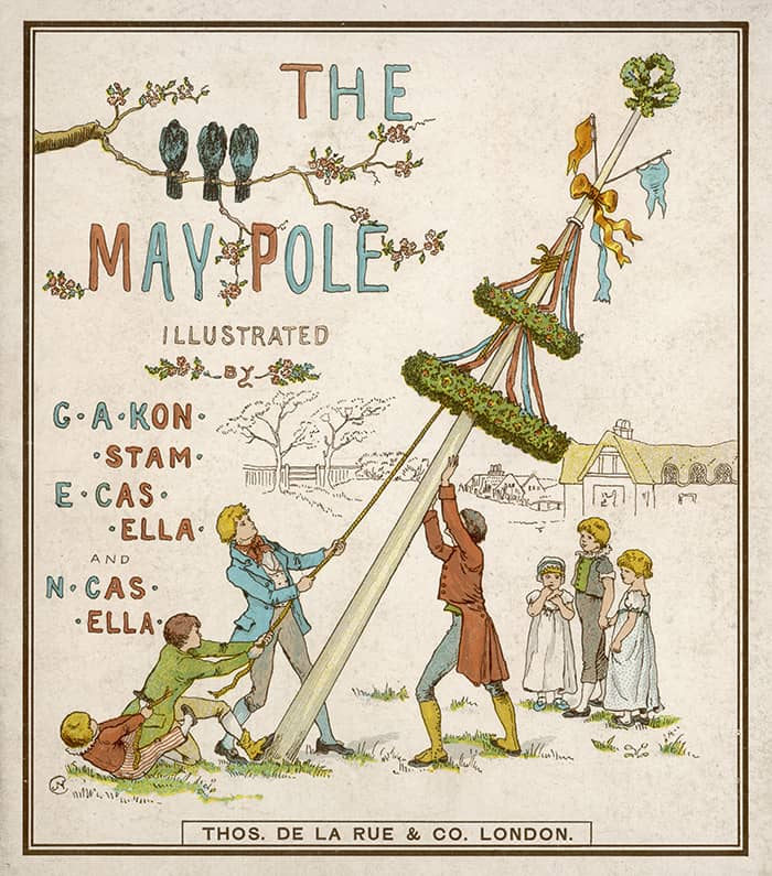 What Is Beltane - Maypole Illustration