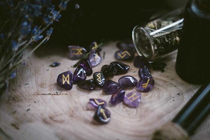 Signs You're Dating a Witch - purple runes