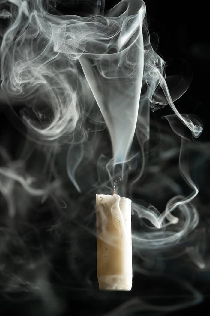 Candle Signs and Flame Meanings - White Smoke