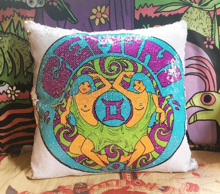 Gemini Zodiac Sign Gift Ideas - Reversible Pillow