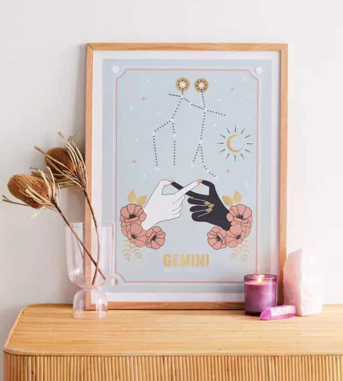 Gemini Zodiac Sign Gift Ideas - Art Print