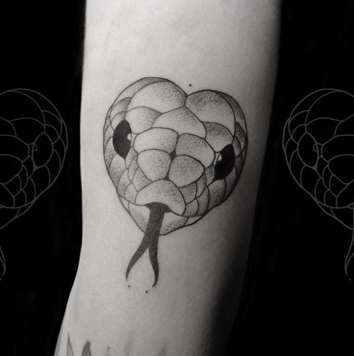 Snake Tattoos - heart